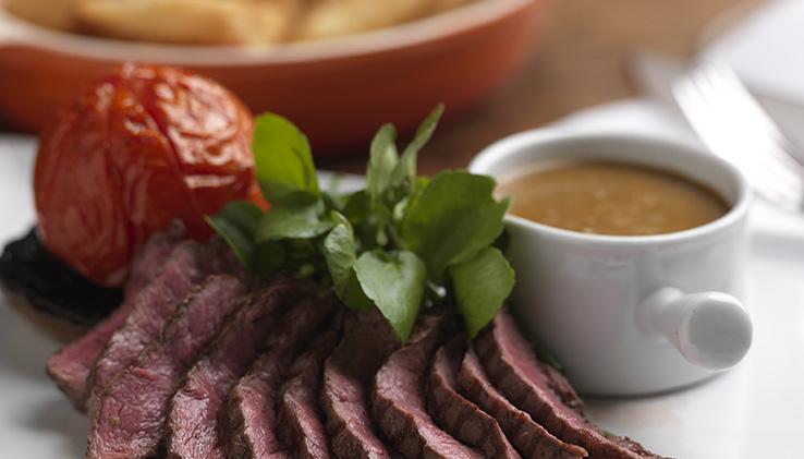 Steak at the Crown Inn, Elton