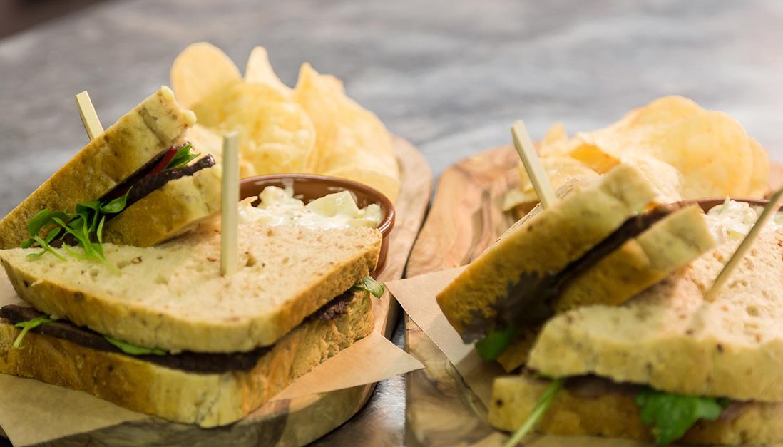 The Crown Inn, Elton sandwiches